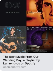 Music a playlist with my favorite weddings songs kbooklover read and review as many books as i wanted hopefully everything can be resolved favorably soon yesterday i distracted myself by watching my wedding solutioingenieria Choice Image